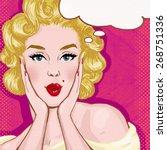 pop art illustration of sexy... | Shutterstock . vector #268751336