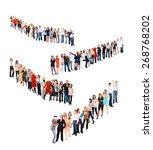 united colleagues business idea    Shutterstock . vector #268768202