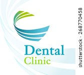 dental clinic logo with dynamic ... | Shutterstock .eps vector #268770458
