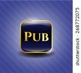 pub gold shiny emblem   Shutterstock .eps vector #268772075