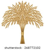 illustration of an ear of rice. ... | Shutterstock . vector #268772102