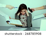 portrait of tired young... | Shutterstock . vector #268785908
