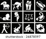 simple zodiac signs | Shutterstock . vector #26878597