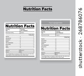nutrition facts label or sticker | Shutterstock .eps vector #268786076