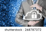 protect cloud information data... | Shutterstock . vector #268787372