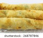 three turkish stuffed pastry  | Shutterstock . vector #268787846