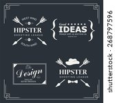 set of vintage hipster design... | Shutterstock .eps vector #268797596