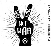 grunge distressed peace sign...   Shutterstock .eps vector #268798835
