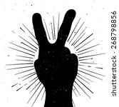 distressed peace sign... | Shutterstock .eps vector #268798856