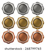illustration of a button of the ... | Shutterstock . vector #268799765