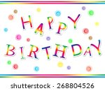 happy birthday | Shutterstock . vector #268804526