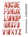 set of alphabet text design | Shutterstock .eps vector #268810046