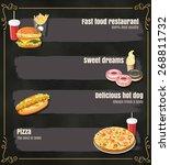 restaurant fast foods menu on... | Shutterstock .eps vector #268811732