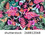 beautiful vintage seamless... | Shutterstock . vector #268812068