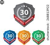 60 days money back guaranteed... | Shutterstock .eps vector #268813922