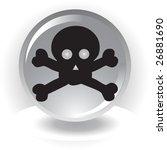 black danger scull  icon on... | Shutterstock .eps vector #26881690