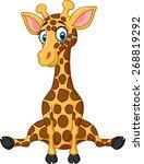 illustration of cartoon cute... | Shutterstock .eps vector #268819292
