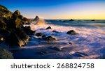 ocean waves and rocks at muir... | Shutterstock . vector #268824758