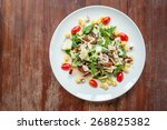 vegetable salad on the table. | Shutterstock . vector #268825382