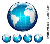 set of glossy globes. different ... | Shutterstock .eps vector #26884339
