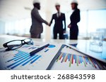 business documents on... | Shutterstock . vector #268843598