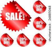 sale signs   Shutterstock .eps vector #26885068