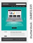 website design  | Shutterstock .eps vector #268851335