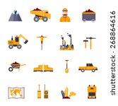 mineral mining  black mining ... | Shutterstock .eps vector #268864616