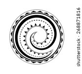 maori tattoo design isolated on ... | Shutterstock .eps vector #268871816