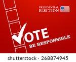voting symbols vector design... | Shutterstock .eps vector #268874945