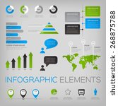 collection of infographic...   Shutterstock .eps vector #268875788