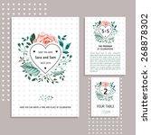 vector set of invitation cards... | Shutterstock .eps vector #268878302