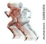 3d render of male figures... | Shutterstock . vector #268881806