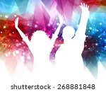 silhouettes of people dancing... | Shutterstock .eps vector #268881848