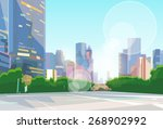 city street skyscraper view... | Shutterstock .eps vector #268902992