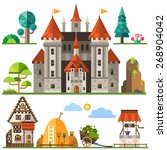 medieval kingdom element  stone ... | Shutterstock .eps vector #268904042
