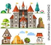 medieval kingdom element  stone ... | Shutterstock .eps vector #268904042