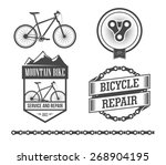 bicycle set | Shutterstock .eps vector #268904195