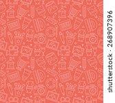 art line icon pattern set | Shutterstock .eps vector #268907396