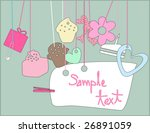 happy birthday card | Shutterstock .eps vector #26891059