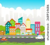 street view | Shutterstock .eps vector #268914686