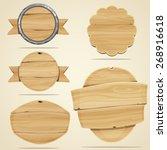 set of wood elements for design.... | Shutterstock .eps vector #268916618