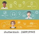 vector set of call center ... | Shutterstock .eps vector #268919945
