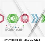 geometric abstract background.... | Shutterstock .eps vector #268923215