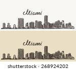 miami skyline  big city... | Shutterstock .eps vector #268924202