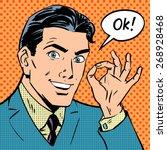 the businessman says okay...   Shutterstock .eps vector #268928468