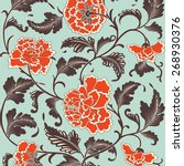 ornamental colored antique... | Shutterstock .eps vector #268930376