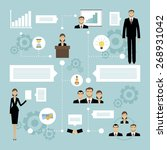 business meeting concept with... | Shutterstock .eps vector #268931042
