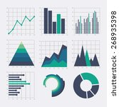 business chart elements. set of ... | Shutterstock .eps vector #268935398