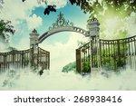 heaven gate in an old... | Shutterstock . vector #268938416